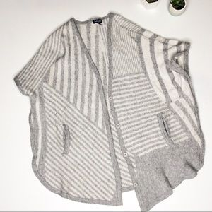 Splendid S Cashmere Wool Sweater Cardigan Grey